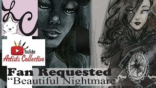 """The Widow"" Illustration (YTAC #3 ""Beautiful Nightmare"") x2 Speedpaints!"
