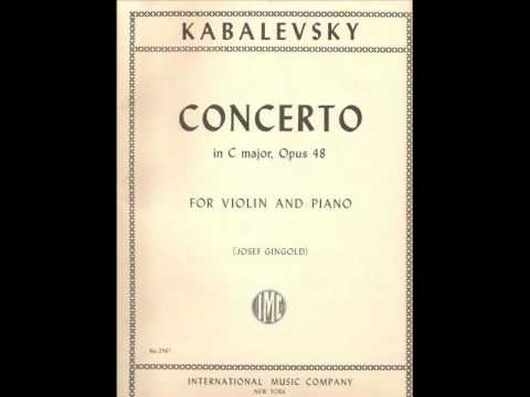 Kabalevsky - Violin Concerto - 2° Mov - Piano Accompaniment