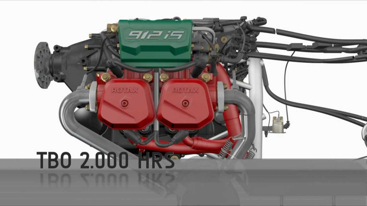 Rotax 912 iS - 3D animation