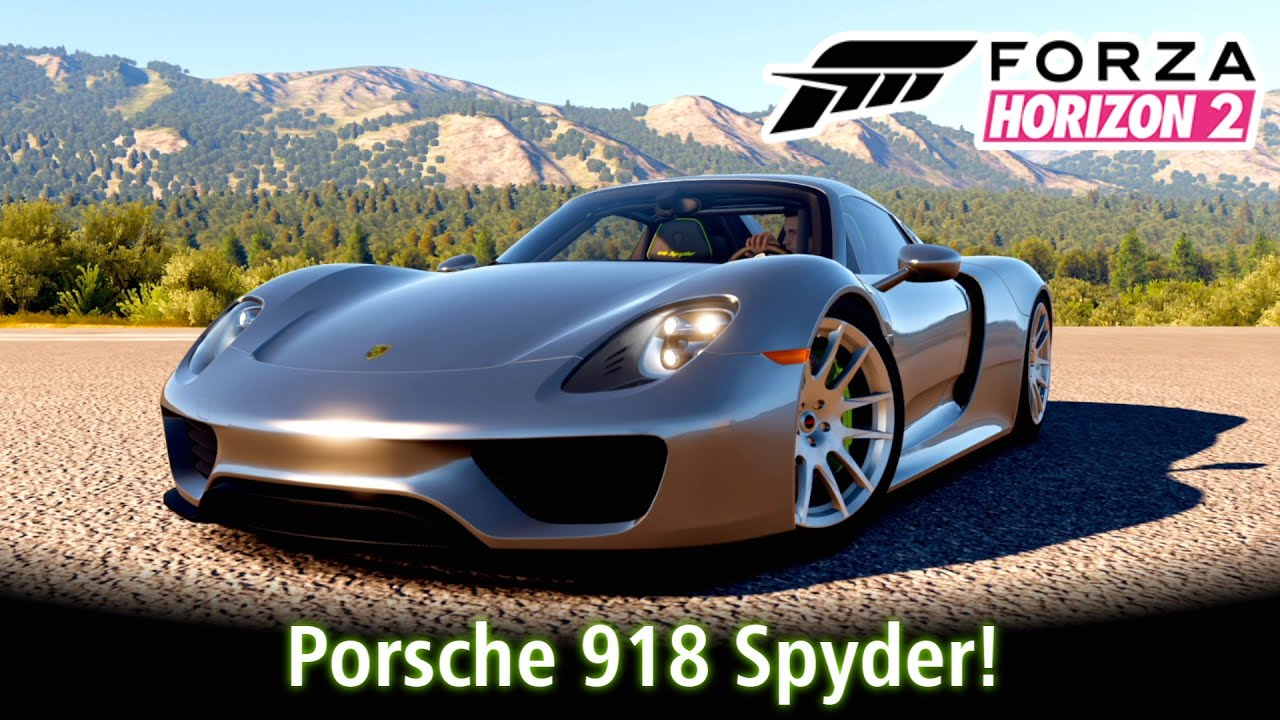 porsche 918 spyder tunando e top speed forza horizon 2. Black Bedroom Furniture Sets. Home Design Ideas