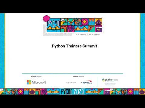 Image from Python Trainers Summit - Hatchery 2020