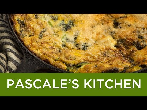 zucchini,-spinach-and-cheese-clafoutis---a-savory,-vegetable-filled-flan