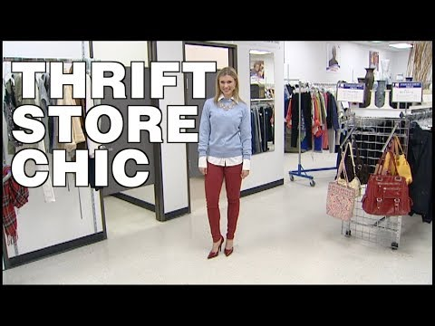 Rebecca Spera Shows You How to Go Thrift Store Chic - YouTube