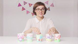 DohVinci Russia 2 видеоурок - украшаем стаканчики для гостей | Курс декора для DohVinci.ru