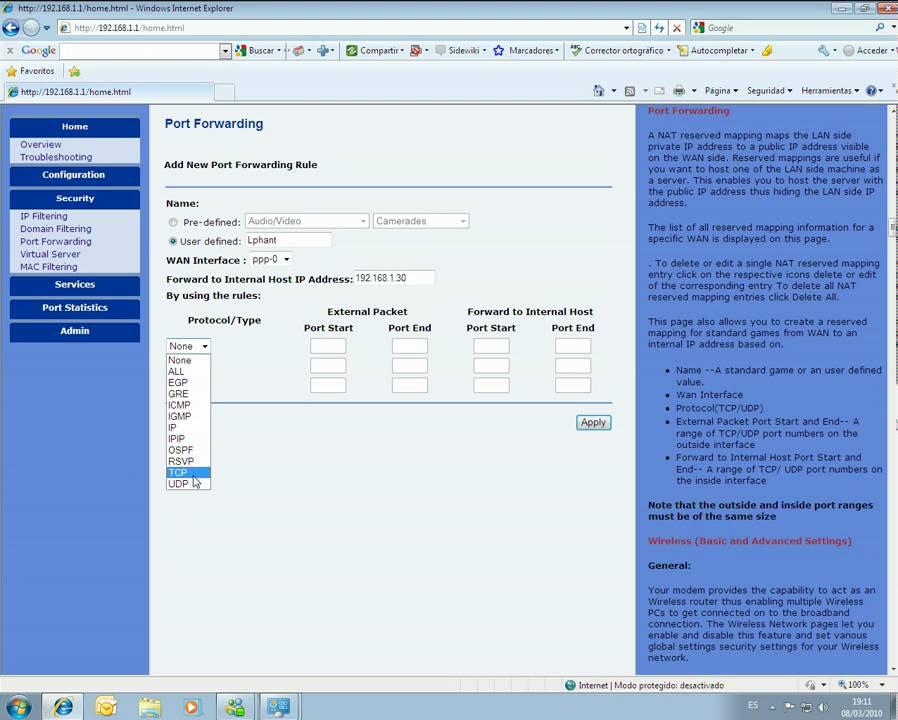 Movistar Xavi 7968+ Router Driver for Windows 7