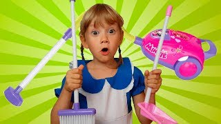 Alena and Pasha are cleaning the house Kids pretend play by Chiko TV