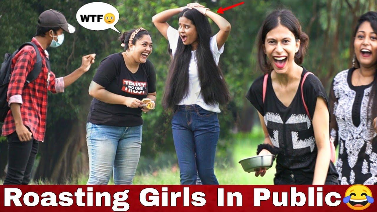 ROASTING GIRLS IN PUBLIC 😂   FUNNY SHAYARI ON GIRLS   EPIC REACTIONS 😳   VINE HUNT  