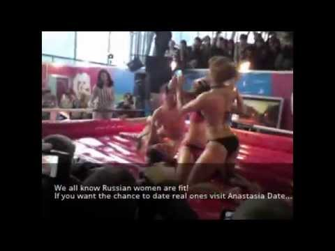 Hot Russian women, covered in oil!