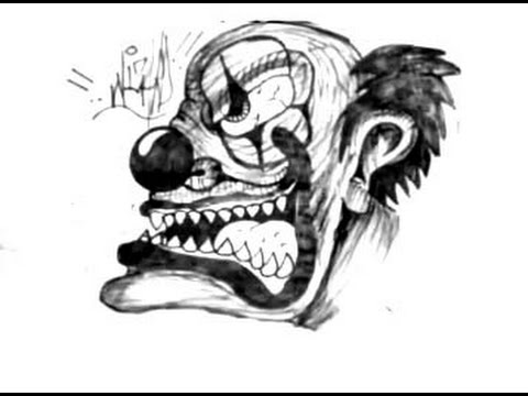 Pixgood   funnyscarycartoonfaces furthermore Tattoo2 likewise Scary Easy Drawings additionally Halloween also Clown. on scary clowns zombie
