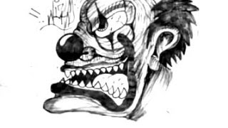 How to Draw a killer clown - (EASY) 2014