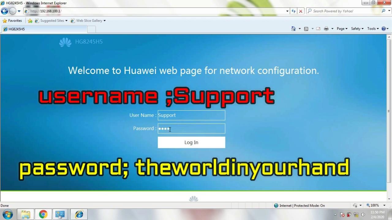Cara Setting Huawei Hg8245h5 Jadi Access Point Hotspot Youtube