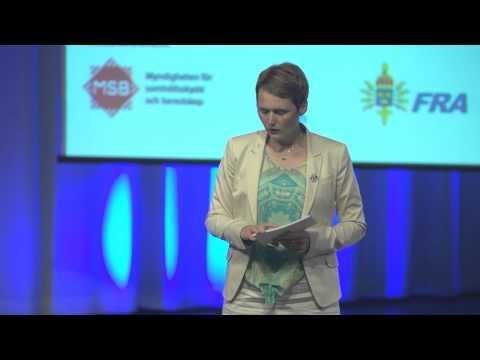 Anna-Karin Hatts tal på konferensen Informationssäkerhet för offentlig sektor 2012