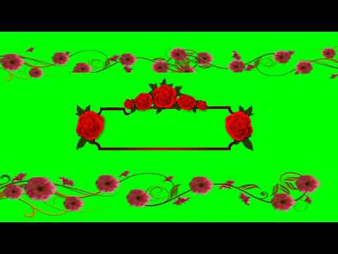 Green Screen Wedding Animated Title Background - Green screen Flowers thumbnail
