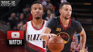 Damian Lillard vs Stephen Curry PG DUEL Highlights (2016.02.19) Blazers vs Warriors - MUST Watch!