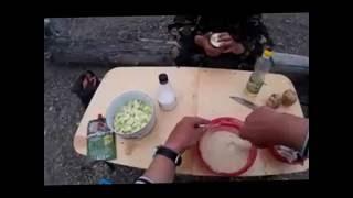 Жареная рыба в Кляре, в походных условиях. Fried fish in batter , in field conditions .