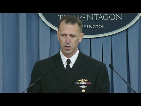 Navy Investigation Into USS McCain, Fitzgerald Collisions - Full News Conference