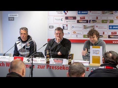 22. Spieltag   RWE - SGD   Pressekonferenz nach dem Spiel