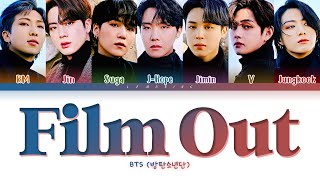 Download BTS Film out Lyrics (방탄소년단/防弾少年団 Film out 日本語字幕 가사) [Color Coded Lyrics/Kan/Rom/Eng]