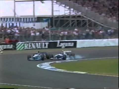 Hill/Schumacher crash in silverstone 1995