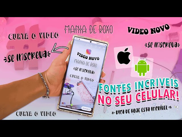 COMO TER FONTES PERSONALIZADAS NO SEU STORIES | Android & iOS