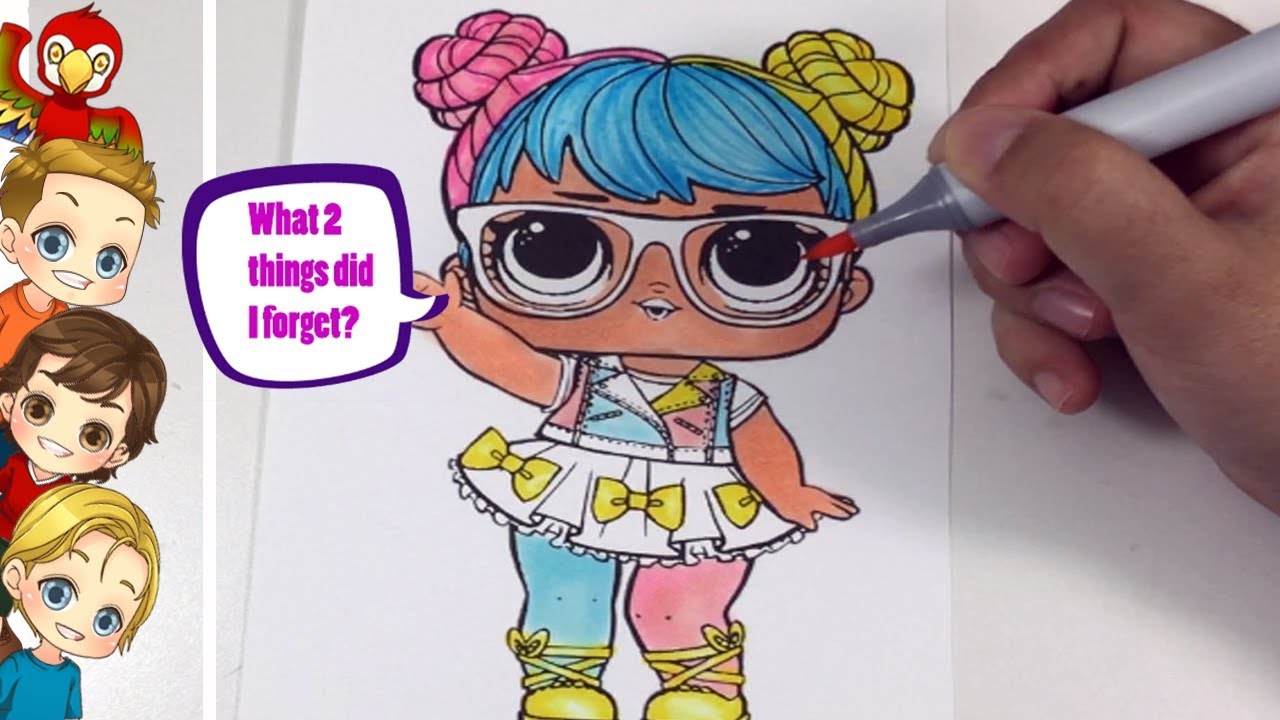 Coloring Lol Doll Bon Bon Lol Speed Coloring Coloring Lol Bon