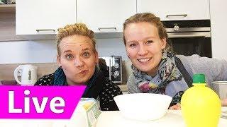 Tassenkuchen Rezept einfach (Live)   DIY Inspiration Live Stream mit Eva & Kathi   Zebrakuchen