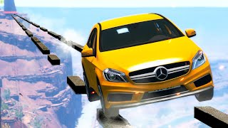 Cars VS Obstacle Course #4 -  How far will these Cars go? -  BeamNG Drive | CRASHdriven