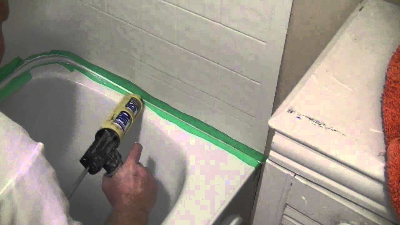 How To Silicone Seal A Tub Surround To A Tub YouTube - Best caulk for bathtub surround