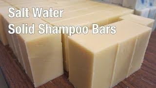 Making Solid Shampoo Bars