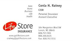 Conla Rainey, Lifestore Insurance of Lenoir, NC