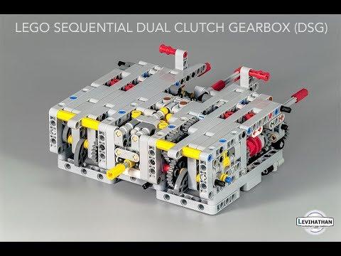 Lego sequential dual clutch gearbox (DSG) 8 speeds