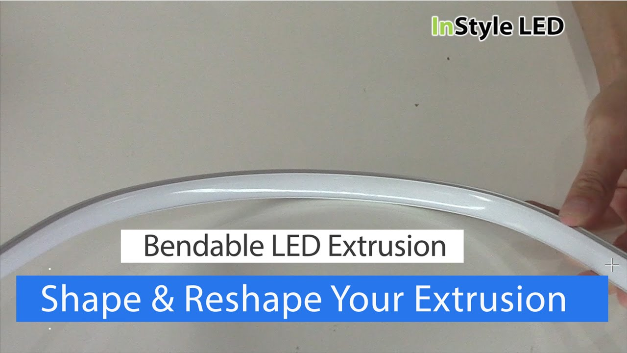 Bendable Aluminium Extrusions For Led Strip Lights Youtube