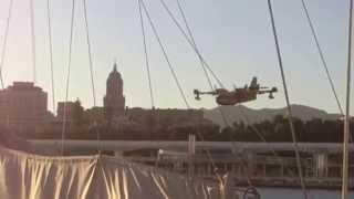 Así cargaban agua los Canadair CL-215 Muelle Uno,