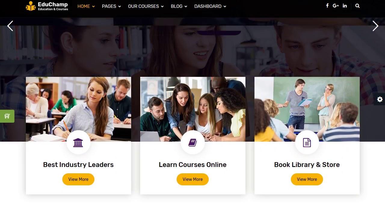 EduChamp - Education HTML Template Gratuit