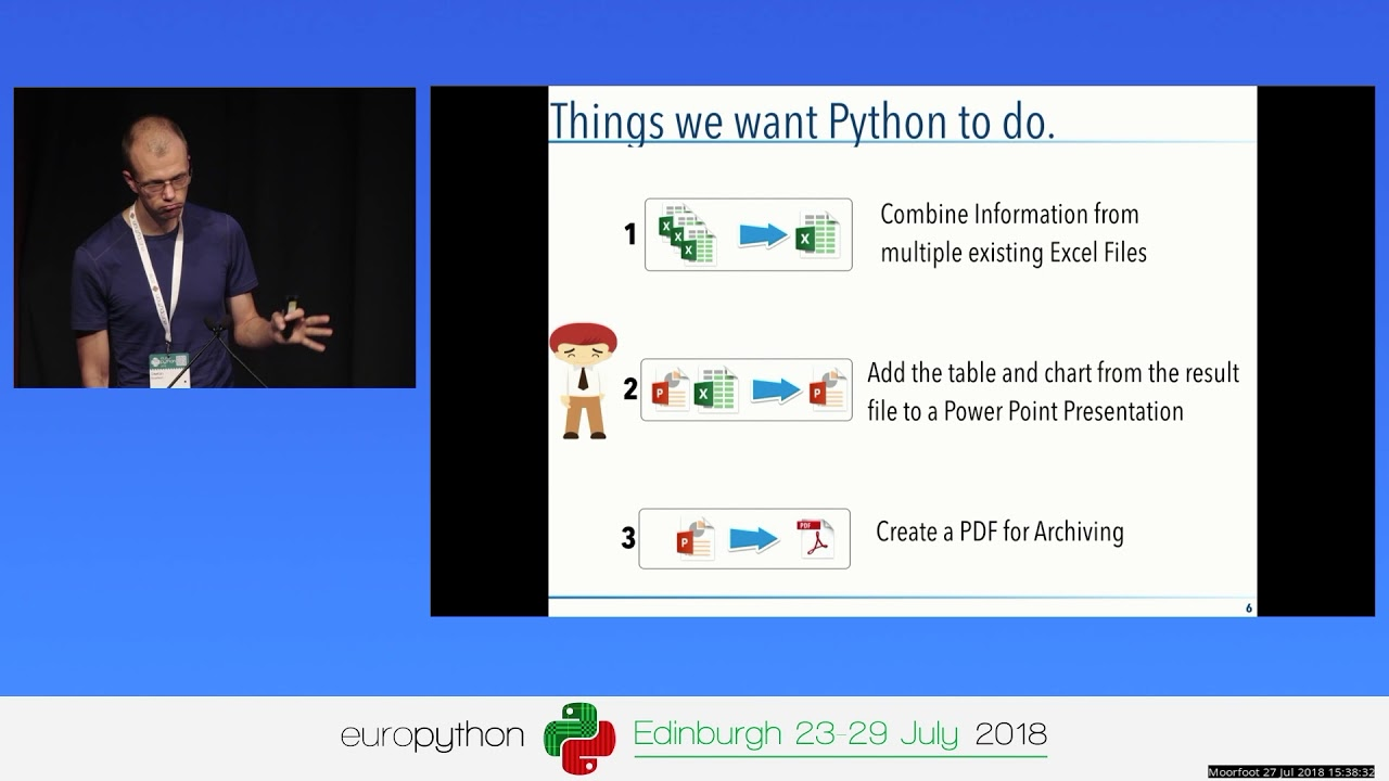 Stefan Baerisch - The Boring Python Office Talk Automate Powerpoint, Excel,  and PDF with Python
