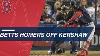 Betts extends Boston's lead with home run off Kershaw