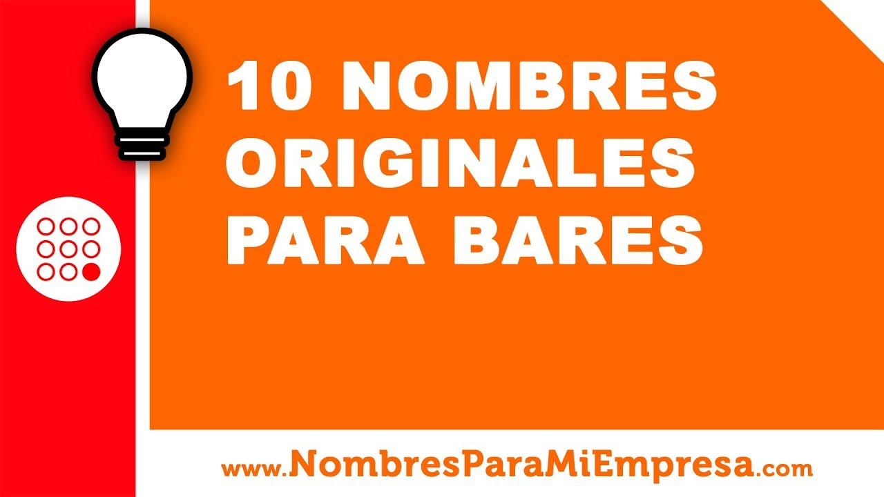 10 nombres originales para bares nombres para empresas youtube - Nombres originales empresas ...