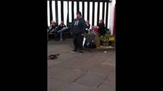 Busker Matt Bond in Stratford upon Avon singing Hallelujah-  awesome