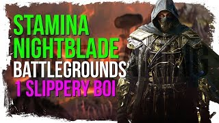 ESO Stamina Nightblade Deathmatch Battlegrounds - One Slippery Boi