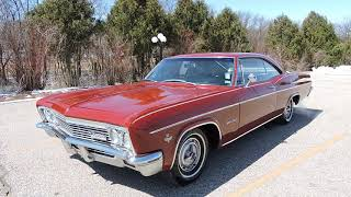 1966 Chevy impala SS red For sale at www coyoteclassics com