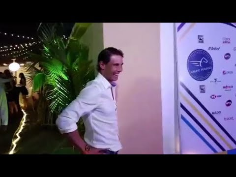 Rafael Nadal arrives at the White Party in Acapulco, 25 Feb 2018