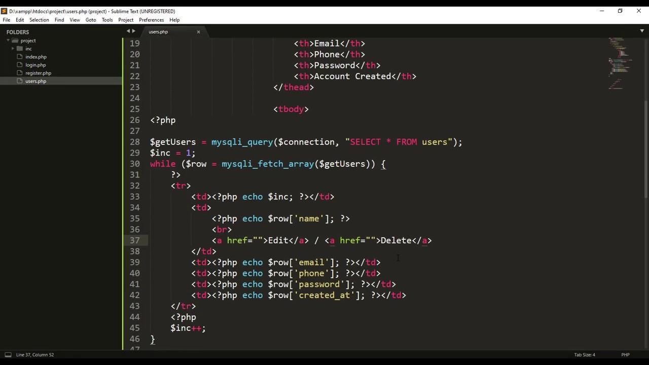 User Registration System Using PHP And MySQL Database
