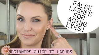 ULTIMATE GUIDE TO FALSE LASHES FOR AGING EYES || Beginners 101 to lashes