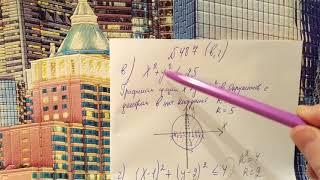 487 Алгебра 9 класс. Изобразите на координатной плоскости множество решений