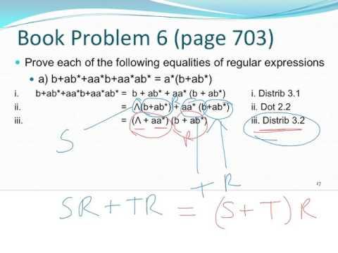 07 Algebra of Regular Expressions