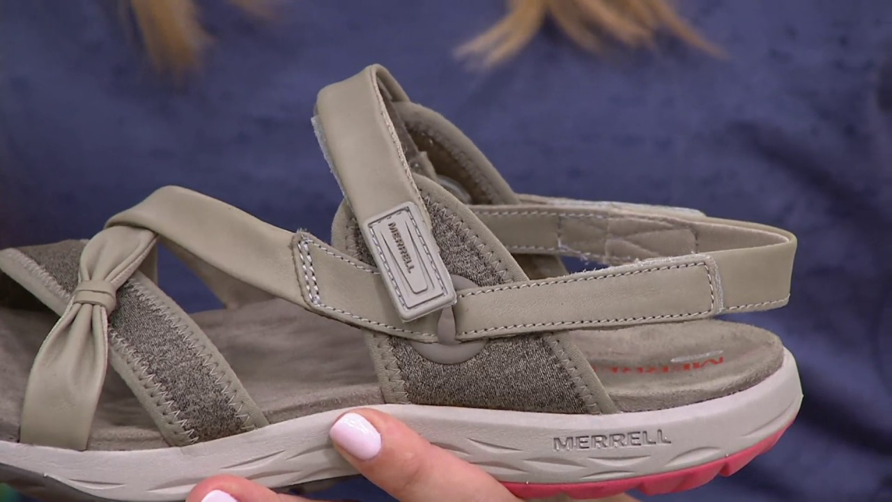 e5271319ccd7 Merrell Leather Sport Sandals - Vesper Lattice on QVC - YouTube