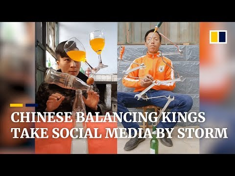 Chinese balancing kings take social media by storm