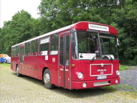 [Sound] Bus MAN SÜ 240 (SO-SU 240) der Museumseisenbahn Hamm e. V., Hamm (Westf)