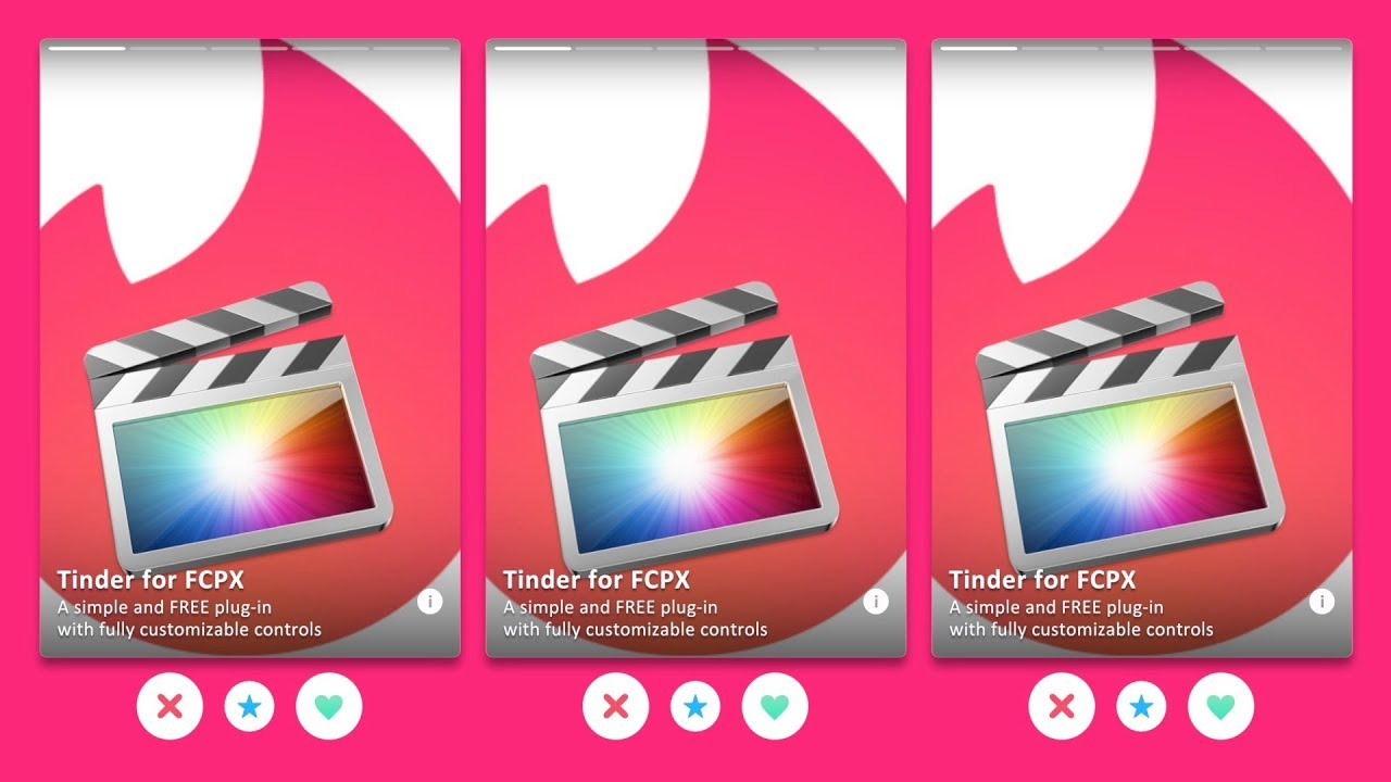 Free Tinder Plugin for FCPX | 'GLJ Media Group' Daily Blog