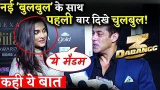 DABANGG 3: Salman Khan First Time Spotted With Saiee Manjrekar At IIFA 2019!